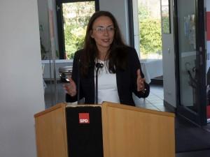 Yasmin Fahima SPD-Generalsekretärin überzeugte in Lünen auf der AfA-Konferenz.
