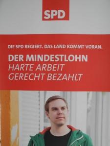 Plakat DER MINDESTLOHN